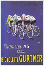 PUBLICITÉ Bicyclette GURTNER - Reproduction 19 x 28 cm