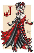 Joker HARLEY QUINN Signed Print by Billy Tucci