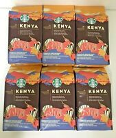 6 STARBUCKS PREMIUM SELECT KENYA BLEND MEDIUM ROAST  WHOLE BEAN COFFEE  3.3 LB
