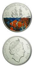 Fiji Tropical Fish Percula Clownfish $1 2009 BU Color Crown