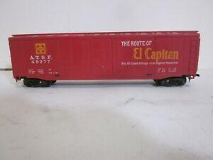 """HO scale vintage TYCO Santa Fe El Capitan """"Steel"""" Plug-door Boxcar freight train"""