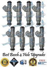 Reman Genuine Gen 3 Bosch 4 Hole Upgrade Vortec 8x Fuel Injectors GM 454cid 7.4L