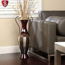 Tall Metal Vase Décorative Home Floor Large Flower Display Décor Elegant Living