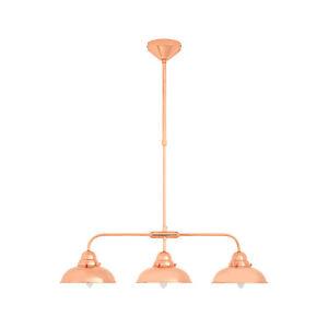 Jasper 3 Pendant Light Copper Chrome Lamp (Shade Dia 20Cm)