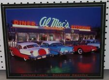 AL MAC'S Diner Restaurant Tin Sign Corvette Stingray Chevy Picture Retro Gift