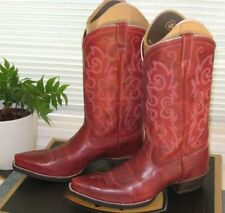 Leather Cuban Heel Casual Cowboy, Western Boots for Women