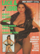 HIGH SOCIETY EXTRA 1990 - Lack & Leder deutsche Edition / girls naked nude nackt