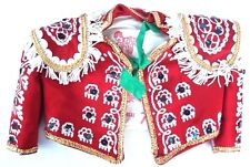 VTG Made in Spain Ornate Matador Jacket Small Doll Xafmas Lined Sequins Fringe