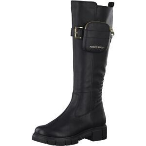Marco Tozzi Blogger Trend Boots Langschaft Stiefel mit Tasche NEU edel trendy