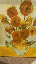 Sonnenblumen Van Gogh, handgemalt, Öl, 30 x 40 cm