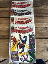 Amazing Spiderman comic books #'s 21,23,24,29 mid-grade 1965