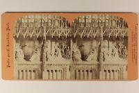 Francia Rouen E Cuore Da La Cattedrale Foto Stereo Vintage Albumina
