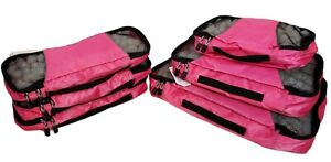 eBags Packing Cubes Peony Pink - 6 Piece Value Set Travel Bags New