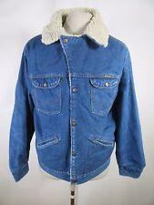 VTG USA Men's Wrangler Denim Cotton Sherpa Lined Jean Jacket A7558