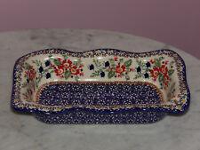 Polish Pottery UNIKAT Rectangle Wavy Baker Baker! Zoey Pattern!