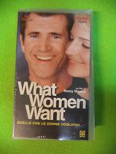 VHS film WHAT WOMEN WANT sigillata Mel Gibson Helen Hunt MEDUSA (F211) no dvd