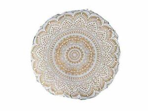 """Gold Ombre 32"""" Round Mandala Floor Pillow Cover Cushion Meditation Seating Poufs"""