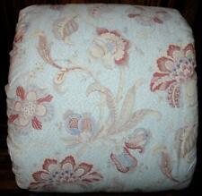 Ralph Lauren Oriental Floral Paisley Baby Blue & Brick Red Full/ Queen Comforter