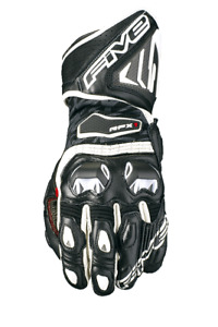 Five5 RFX1 Women's Leather Motorcycle Gloves Black/White