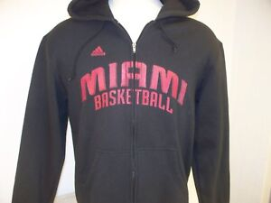 Miami Heat NBA Adidas Adult Large Zipper Hoodie Sweatshirt
