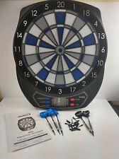 Electronic Dart Board Halex 64310 Blue Gray Black with 5 Plastic Tip Darts +extr