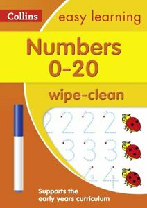 Numbers 0-20 Age 3-5 Wipe Clean Activity Book: introduce pre-schoolers to number