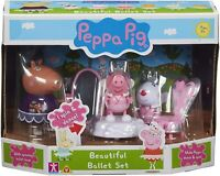 Peppa Pig Peppa's Beautiful Ballet Set & 4 Action Figures Figure Toy Playset