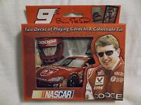 Nascar Playing Cards.  #9 Bill Elliott.  Two Decks In A Collectible Tin