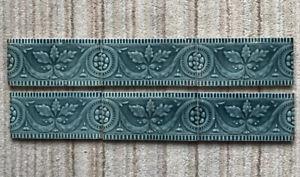 6 Blue Victorian Embossed Spacer Tiles 6 In x 3 In