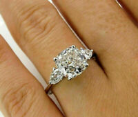 1.70cts Princess Cut Solitaire Diamond Engagement Ring Solid 14k White Gold