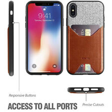 Poetic Nubuck Stylish Thin Cover For Apple iPhone XS Max Credit Card Case Brown