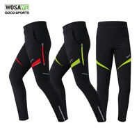 WOSAWE Men's Cycling Pants Thermal Bike Trousers Bicycle Tights Zipper Leg