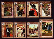 Aden Kathiri 1967 ** Mi.142/49 A Gemälde Paintings Toulouse-Lautrec