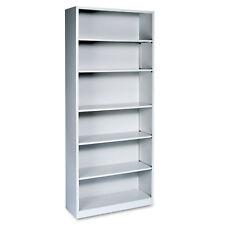 Hon Metal Bookcase Six-Shelf 34-1/2w x 12-5/8d x 81-1/8h Light Gray S82Abcq