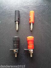 4mm Banana Plug Socket Set - 2 Pairs Red and Black