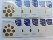 ALEMANIA 2004. 5 CARTERAS CON LOS 8 VALORES DE EUROS-LAS 5 CECAS- 40 MONEDAS BU.