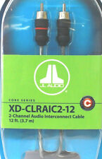 JL Audio XD-CLRAIC2-12 2-Channel RCA Cable 12ft (3.66 m) Audio Interconnect NEW