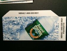 Poland Spring Water Vending Machine Drinks Flavor Cards- Small Size