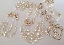 Swarovski Pearls Wedding Lasso Ivory Color/ Lazo Para Boda Color Cremita /gold