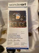 "Wonderart Latch Hook Kit 12"" X 12"" Police Car"