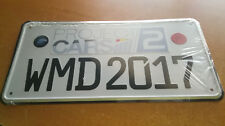 Project Cars 2 limited edition car plate
