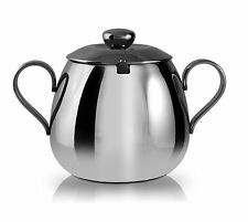 Grunwerg Cafe Ole Everyday 12oz Sugar Bowl 18/10 Stainless Steel Dishwasher Safe