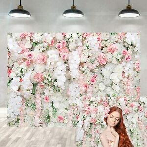 Floral Wall Backdrop 7X5FT Fresh Rose Flower Curtain Vinyl Party Backdrops