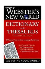 Webster's New World Dictionary and Thesaurus 2nd Edition (Paper... Free Shipping