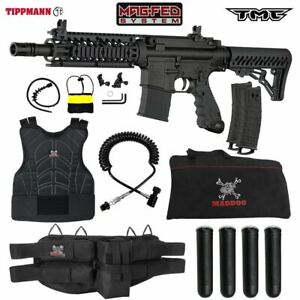 Maddog Tippmann TMC MAGFED Sergeant Paintball Gun Marker Package - Black