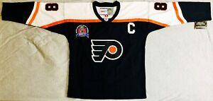 1997 Eric Lindros Philadelphia Flyers Alternate Black Jersey Size Men's Medium