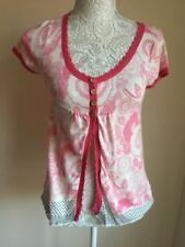 White Stuff Womens Pink 100% Cotton Cardigan Size 8 (025)