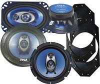 JEEP Wrangler 2001 2006 360/240 Watt Speaker Upgrade Kit PYLE PL63BL, PL463BL