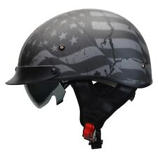 Vega Warrior Patriotic Flag Half Helmet Black