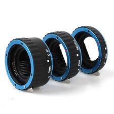 Blue Auto Focus Macro Extension Tube for CANON EOS EF-S 700D 650D 600D 70D 60D6D